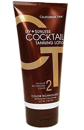 California Tan UV+ Sunless Cocktail Tanning Lotion, 6 Ounce