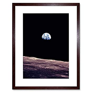 The Art Stop Space Photo Planet Earth Lunar Surface Moon Cool USA Framed Print F12X6358
