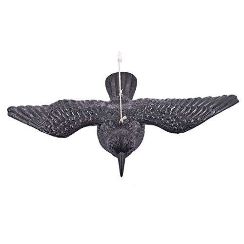 Tmand Caza Se?Uelos Negro Birds Crow Garden Llamador de PáJaros Deter Scarer...