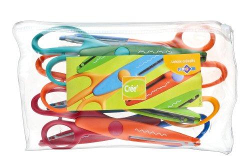Jpc Créations 275102 - Forbici da 16 cm, confezione da 6 pezzi, colori assortiti