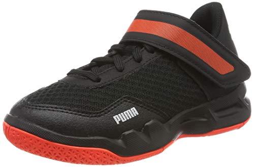 Puma Rise Xt 4 Jr Zapatos de Futsal Unisex Niños, (Puma Black-Silver-Nrgy Red 01), 39 EU (6 UK)