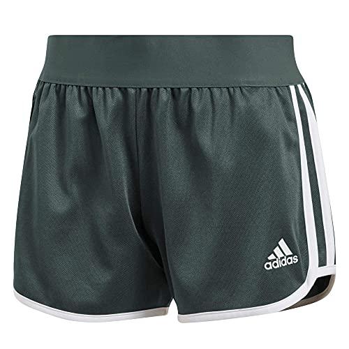 adidas Pantaloni da donna M10 Athletics Iteration – grigio scuro, bianco, grigio scuro, XXS