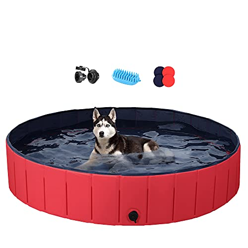 Foldable Hard Plastic Large Dog Pet Bath Now $37
