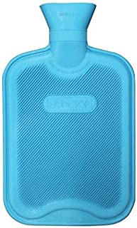 HomeTop Premium Classic Rubber Hot Water Bottle, Great for Pain Relief, Hot and Cold Therapy (2 Liters, Blue)