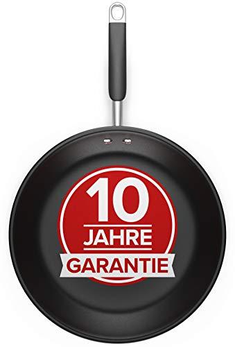 Pfanne 28cm - Für alle Herdarten - Antihaft Beschichtete Pfanne 28cm aus Edelstahl, Optimierte Griffe, Perfekte Hitzeverteilung, Spülmaschinen- und Ofenfest - Bratpfanne Induktion von Pure Living