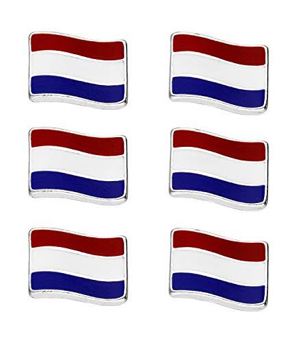SIX Juego de pendientes Países Bajos, juego de 3, 6 piezas, artículo para aficionados, accesorio para el campeonato de Europa, elfo nacional, EM (679-368)