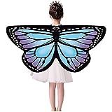 Frashing Faschingskostüme Schmetterling Schal Kinder Kostüm Schmetterlingsflügel Pixie Halloween...
