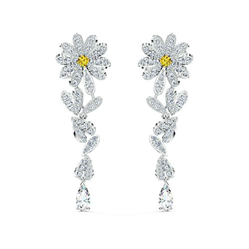 Swarovski Orecchini Eternal Flower, Giallo, Mix Di Placcature