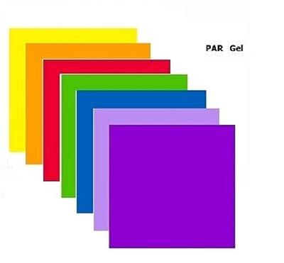 Par / Parcan 56 Gels - 7 x Stage Lighting Filters Colour Gel Pack
