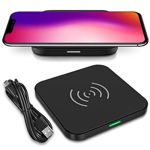 Nauci QI Wireless Schnell Ladegerät kompatibel für Umidigi One Pro Kabellos Charger Induktives Universal Schnellladegerät Ladestation