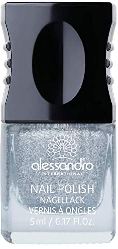 alessandro Nagellack Crystal & Candy - Silber glitzer, 1er Pack(1 x 5 milliliters)