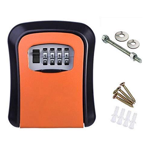 Caja de contraseña de Tarjeta de Llave,Caja de Llave,Bloqueo de contraseña,Caja de Llave de contraseña Naranja