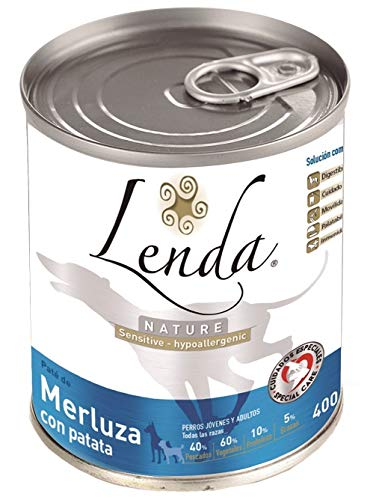 Lenda Nature - Comida húmeda sensitive y hipoalergenic, 400 gr