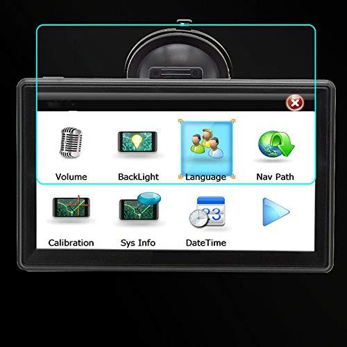 FANGPAN para Junsun D100 Navegación GPS para Coche FM Bluetooth 2018, Protector de Vidrio Templado de Acero Portective FilmGPS Navigators
