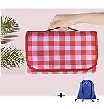 YINN - Manta portátil para picnic, gran alfombra al aire libre para playa, camping, jardín, pasto, impermeable, resistente a la humedad, lavable