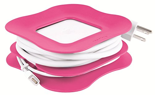 Quirky Powercurl Cordwrap Cable Tidy for 85W MagSafe Power Adapter for 15 and 17inch MacBook Pro, Pink