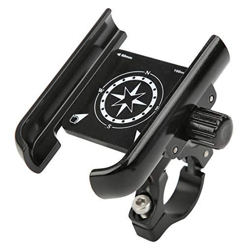 Bnineteenteam Soporte para teléfono Ajustable para Bicicleta, aleación de Aluminio Soporte para teléfono Ajustable de 360 Grados para Motocicleta, Bicicleta, Scooter(Negro)