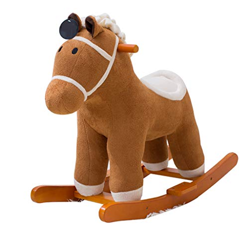 For Sale! FJH Rocking Horses Music Trojan Children Rocking Horse Dual-use Rocking Cradles Baby Toys ...