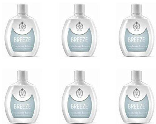 6 Deodoranti Breeze Squeeze Deodorante Freschezza Talcata Profumati per il corpo