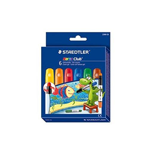 Staedtler Noris Club - Lápices de gel (6 unidades), colores básicos surtidos