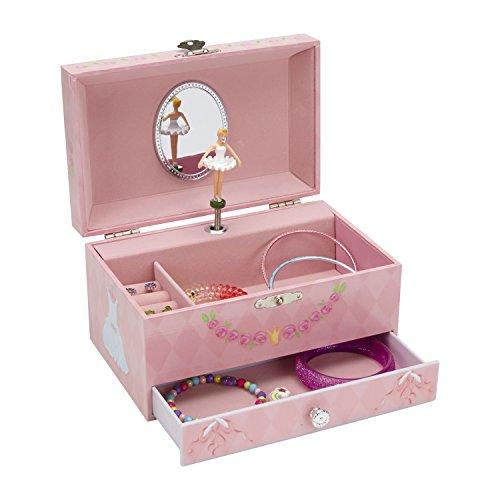 Jewelkeeper - Diamant Ballerina Spieluhr Schmuckschatulle mit Ausziehfächern, Schmuckschatulle - Schwanensee Melodie