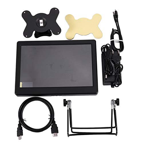 ACAMPTAR 10 Pulgadas 2560X1600 Fhd Monitor LCD IPS Pantalla de Gran Angular para Raspberry Pi 3 Modelo B (Plus) / Ps3 Ps4 Wiiu Xbox360 (EU Plug)