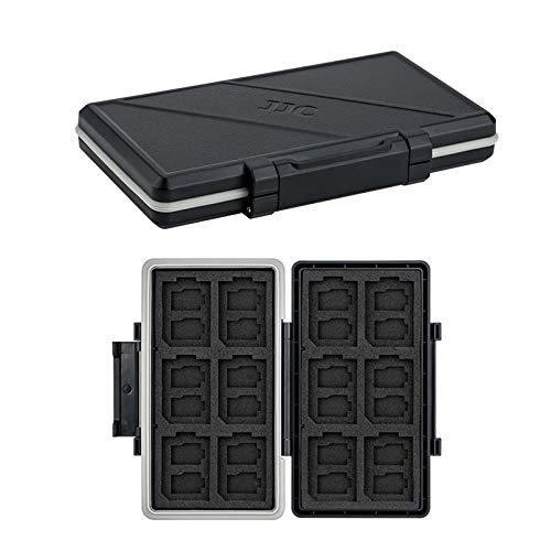 JJC Speicherkarten Etui Tasche Aufbewahrung für 24 Micro SD SDXC SDHC + 12 SD SDXC SDHC, Wasserdicht Speicherkartenetui SD Speicherkarten Schutzbox Tragetasche SD Karten Hülle Box - Memory Card Hülle