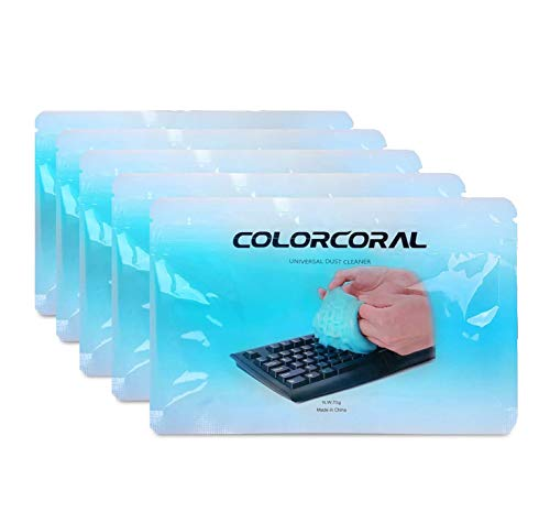 Cleaning Gel Universal Cleaning Gel for Keyboards, Car Dash, Printers, Calculators, Speakers, Air-conditioners and Other Appliances (5 Pack)