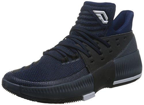 adidas D Lillard 3 - Zapatillas de Baloncesto para Hombre, Azul - (Azumis/Negbas/FTWBLA) 44 2/3