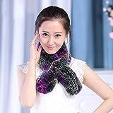 FFSMCQ Silenziatore Moda Inverno Caldo in Pelliccia Naturale Vera E Propria Aria di Coniglio Lady Sciarpa Donne Sciarpa Silenzioso 4 Colori