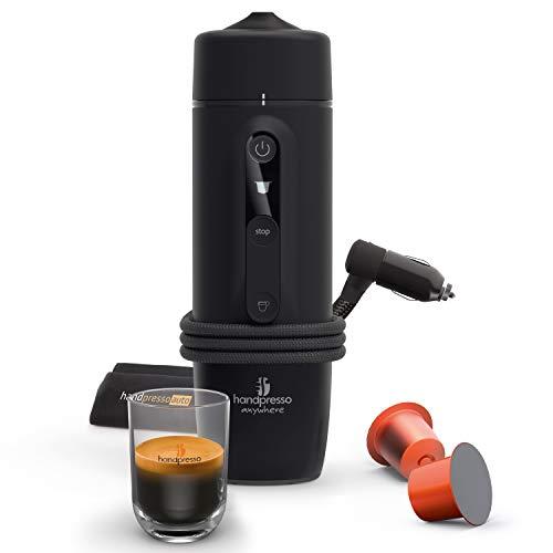 HANDPRESSO - Máquina espresso portátil con cápsulas Nespresso para coche (12 V/24 V)
