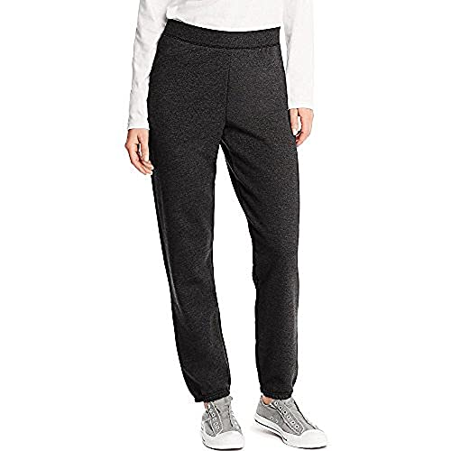 Hanes Women's EcoSmart Cinched Cuff Sweatpants, Ebony, Medium