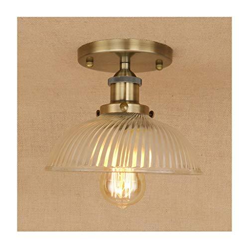 # Plafondlamp, plafondlamp, retro industrieel ijzeren glas, E27 111V ~ 240V, wooncultuur slaapkamer garderobe balkon cafe bar verlichting [energieklasse A ++] plafondlampen