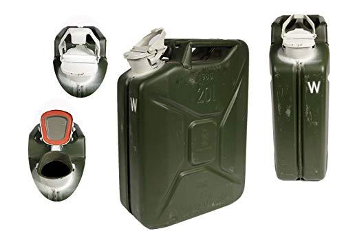 Unbekannt Bundeswehr Wasserkanister 20L Oliv Metall neuwertig Kanister Wasserbehälter Metallkanister