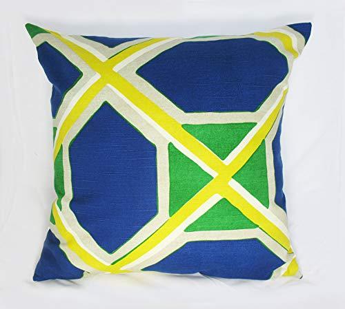 Em2342oe Decoratief Kussen Cover Accent Kussen Kussen Kussen Water Kleur Blauw Geel Groen 18x18 inch 45x45cm