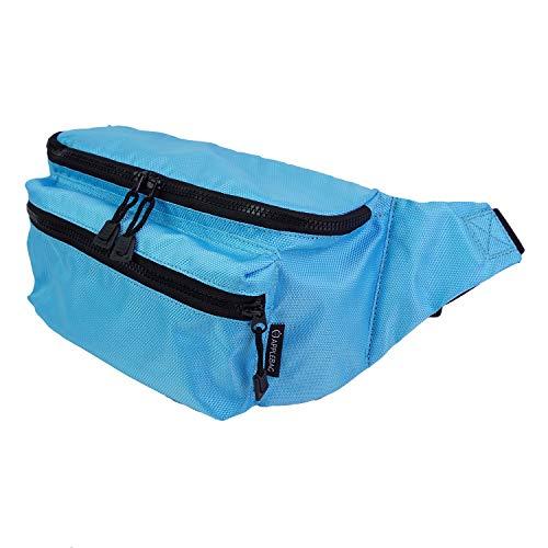 [APPLEBAG]バッグ ボディバッグ ウエストバッグ ワンショルダーバッグ ウエストポーチ 斜め掛け 大きめ 大容量 レディース メンズ ポリエステル プチプラ 軽い 多機能 スポーツ イベント おしゃれ レジャー (ライトブルー)