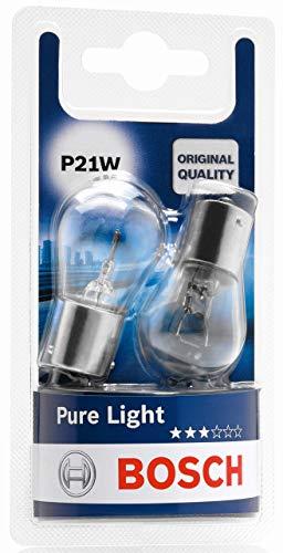 Lámparas Bosch para vehículos Pure Light P21W 12V 21W BA15s (Lámpara x2)