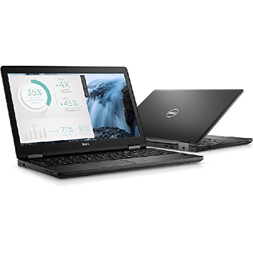 "Dell X1W6W Latitude 5580 Laptop, 15.6"" FHD, Intel Core i7-7820HQ, 16GB DDR4, 256GB Solid State Drive, Windows 10 Pro,Black"