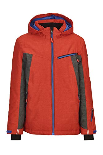 Killtec Skijacke Jungen Jedd Jr - Funktionsjacke mit Schneefang - Jungenjacke mit Kapuze - Winterjacke Kinder - 10.000 mm Wassersäule, orange, 176