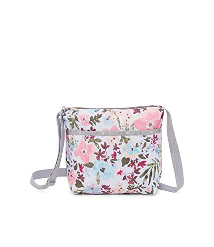 LeSportsac Adoration Small Cleo Crossbody Handbag, Style 7562/Color F570, Delicate Multi-Color Modern Watercolor Floral