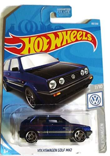 Hot Wheels 2019 Volkswagen Series 7/10 - Dark Blue Volkswagen Golf MK2 #68/250