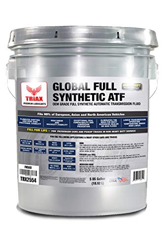 Triax Global Synthetic ATF - OEM Grade | Wide Specification Range for US, European & Asian Vehicles | TES 295, DEX VI, Mercon V and Many Others
