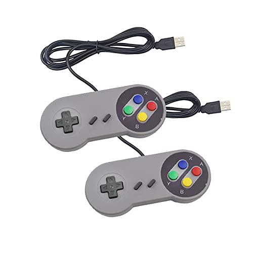 UJETML Controller 2 STÜCKE USB Gamepad Gaming Joystick SNES Game Controller Retro Gamepads für PC Nespi Retropie Game Control für Himbeer Pi 4 B Controller umschalten