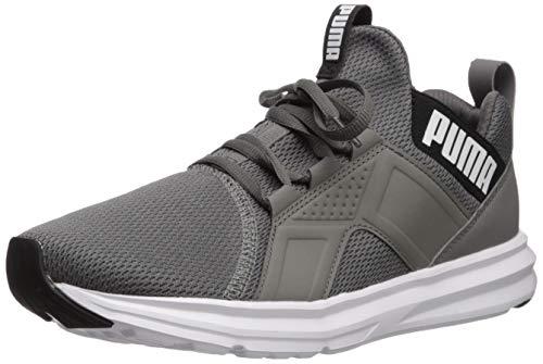 PUMA Enzo Sport Sneaker para hombre, Gris (Castlerock-puma Black-puma Color blanco), 42 EU