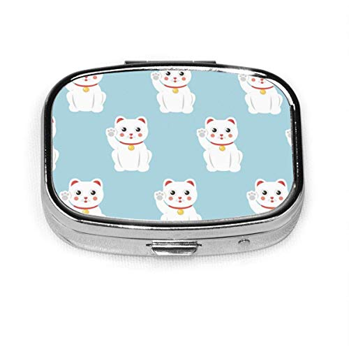Marine Theme Quallen benutzerdefinierte Mode Silber quadratische Pille Box Medizin Tablettenhalter Brieftasche Organizer Fall für Tasche oder Geldbörse Vitamin Organizer Halter dekorative Box