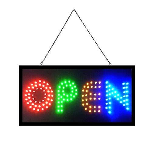 OPEN Elektronisches LED-Schild - das originale intelligente leuchtende LED-Schild für professionelle, leistungsstarke, animierte, blinkende Anzeigeschilder OP04