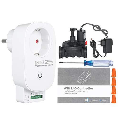 Kecheer programador de riego wifi,controlador de riego wifi,temporizador de riego de jardín,Compatible con Alexa Google Home Assistant
