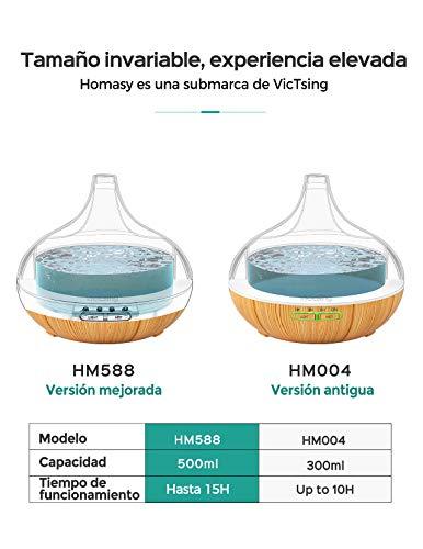 VicTsing 500ml Difusor de Aceites Esenciales, Difusor...