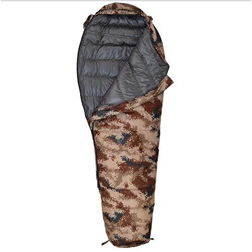 LAIABOR Outdoor Sacco A Pelo Mummia Unibile Con Zip Forma Di Mummia, Adulto, Per Estivo, Trekking, Viaggio,Desertcamouflage800g