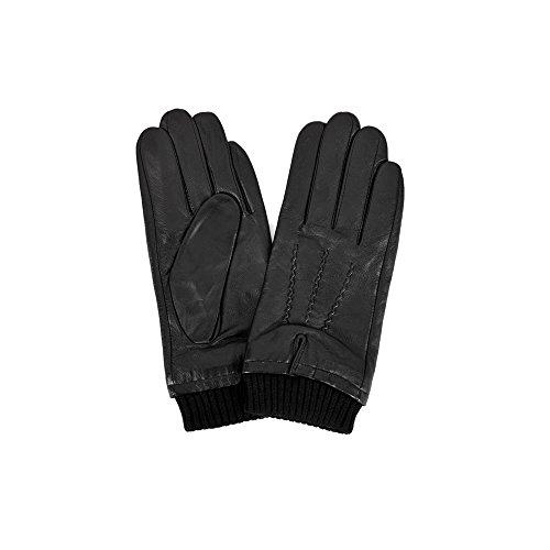 (イースタン・カウンティーズ・レザー) Eastern Counties Leather メンズ リブ カフ 手袋 グローブ (L) (ブラック)